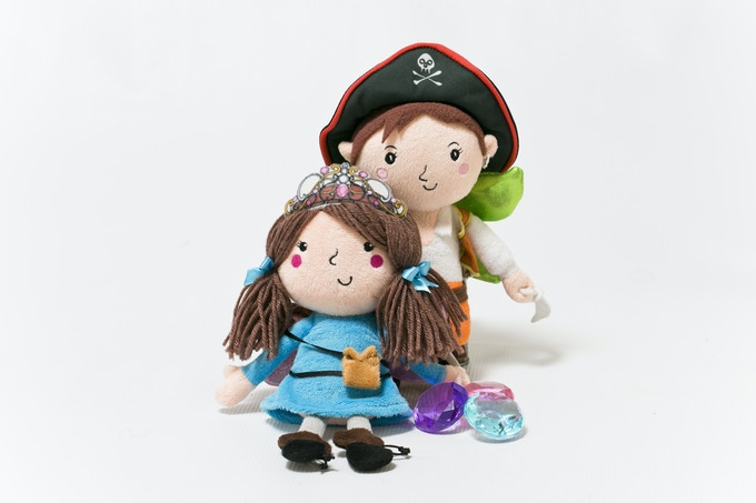 Nora (The Jewel Fairy) & Leo (The Pirate Fairy) - Each kit includes one doll