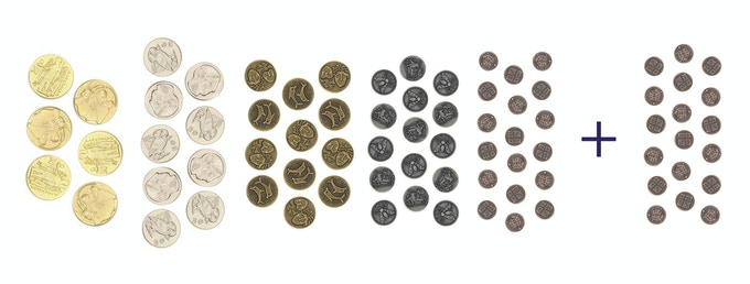 ThemeSets are our most affordable grab-and-get offering to have all the coins a variety of games will require for a full coin replacement.