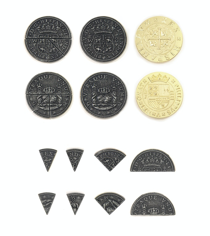 Pieces of Eight theme! (Please note: Pieces of Eight are a unique theme that do not follow our common sizes and finishes. PiecePack quantities are different as a result.)