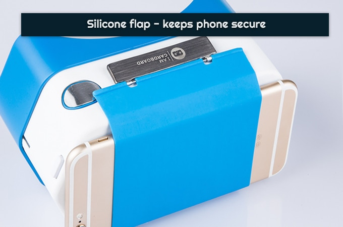 The silicone flap has a grippy surface that prevents your phone from - gasp - ever slipping out.