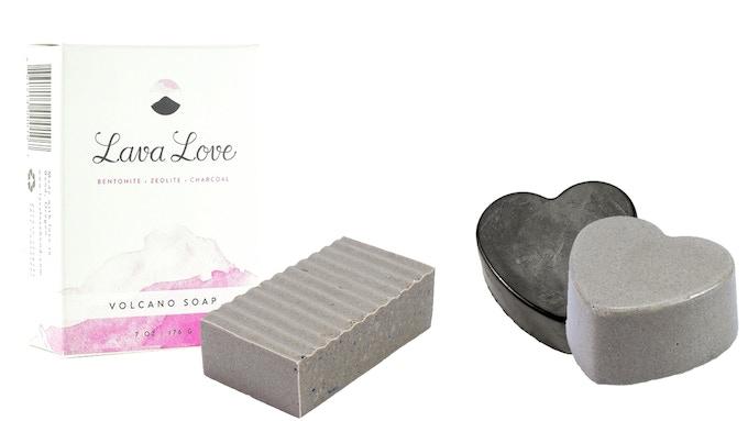 Lava Love Volcano Soap: 7oz Bar and Heart Shape