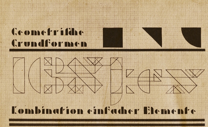 One of Josef Albers's Modular Alphabets