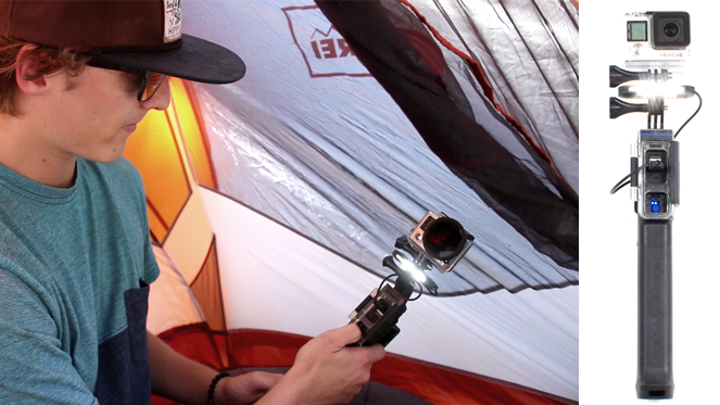 Our streamlined mounting system allows you to attach the LED light between the PowerGrip and GoPro camera, making it perfect for lighting close-up subjects.