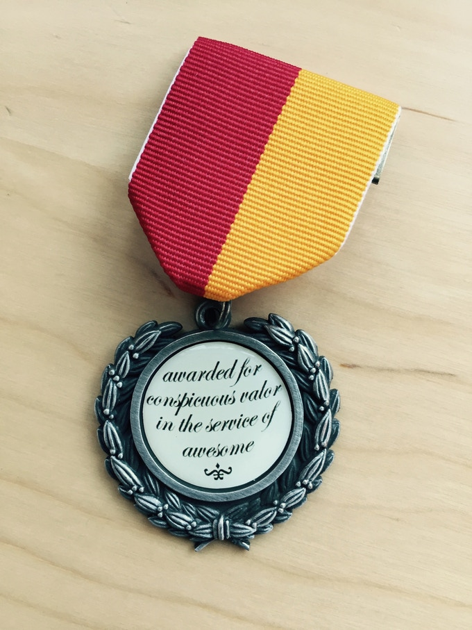 Your medal will look something like this, only more Wordnik-y.