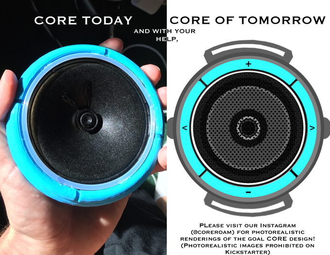 Please visit our Instagram  (@coreroam) for photorealistic  renderings of the goal CORE design! (Photorealistic images prohibited on  Kickstarter)