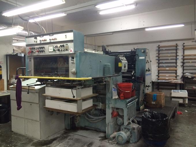 Industrial printer at Freddie's shop