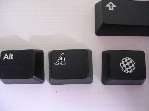 Black key caps - Boing Ball, Alt, R-Shift detail