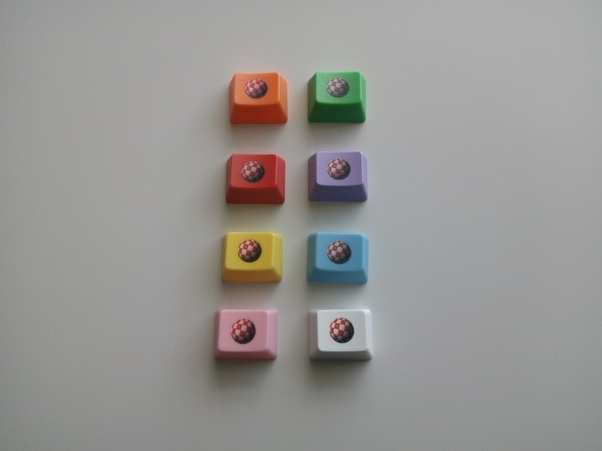 New addition: full colour Boing Ball on coloured key of your choice