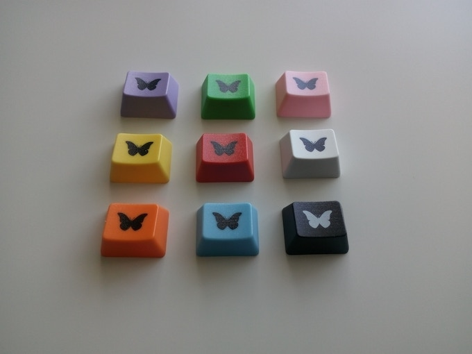 New addition, black MorpOS butterfly on coloured key of your choice