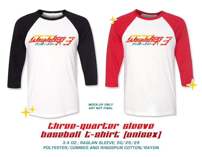 (XS – 2XL size available, 3/4 sleeves)