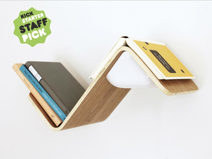 A Bookshelf Reading Light And Bookmark Combined Into One Smart Product Pre