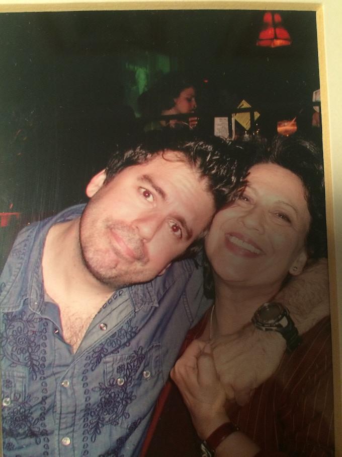 """Greg Giraldo with """"Comedy Mamma"""" Estee at the Comedy Cellar"""
