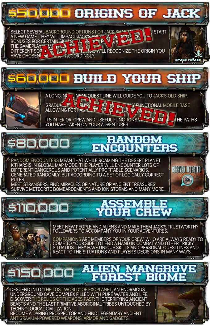 Click on the graphic to get more detail on our stretch goals