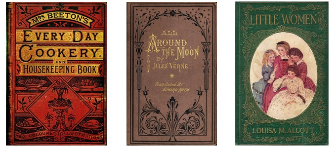 We let old book designs from the appropriate area inspire us.