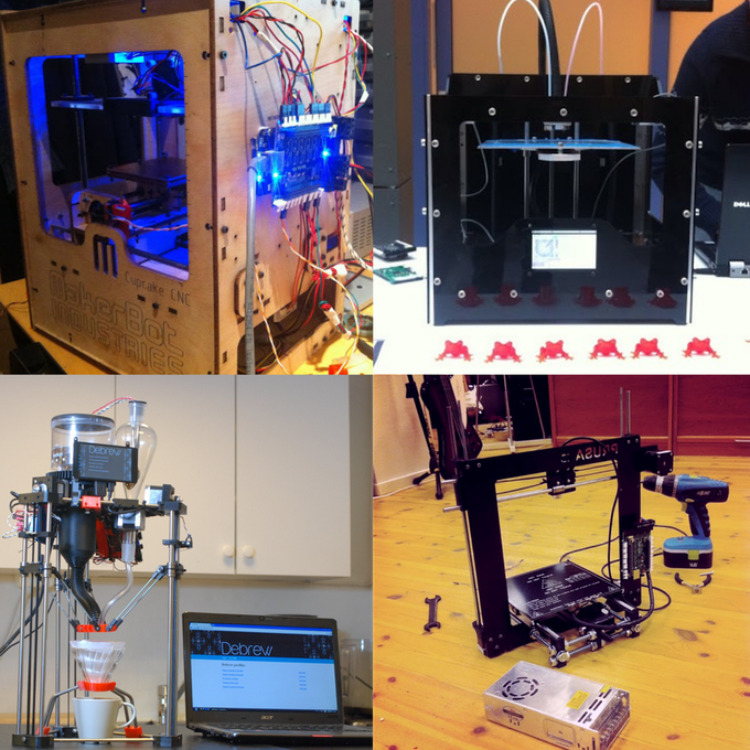 Runs on FDM 3D-printers etc.