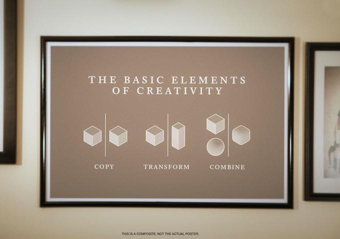 Copy Transform Combine Poster; photo by Timothy Davin