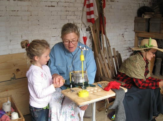 This sock-knitter in Missouri shows exactly what happens when children become curious! Next generation of craftspeople.