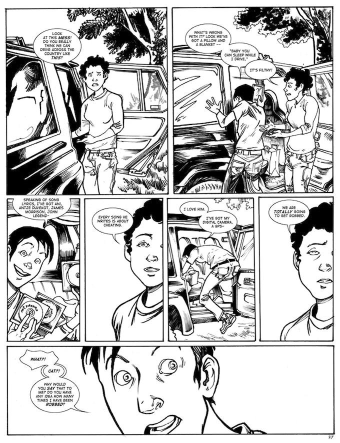 """Excerpt from """"Duck! An Original Graphic Novel"""" (2010)"""