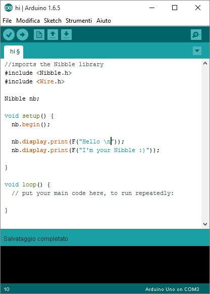 Hello world on Arduino IDE :)