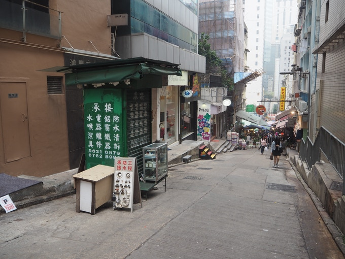 Disappearing markets: this street was once fully lined with street vendors