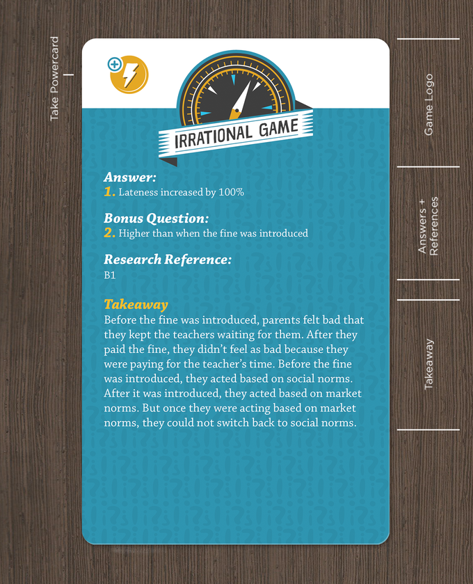 Dan Ariely's Irrational Card Game! by Irrational Ventures ...