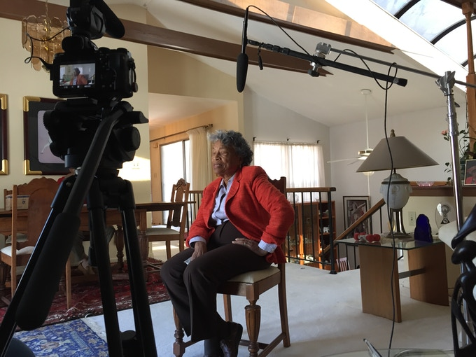 Former Congresswoman and Soul City Foundation President, Eva Clayton, is interviewed in her home.