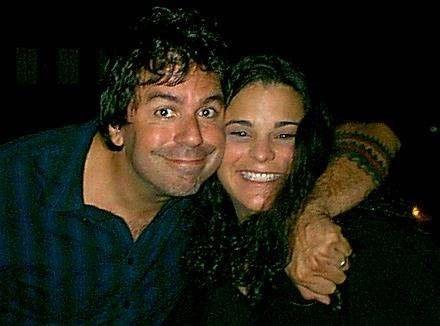 Greg Giraldo and Jessica Kirson