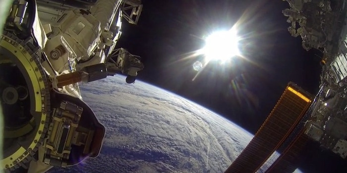 Figure 2 - Photo from the GoPro space walk courtesy of NASA