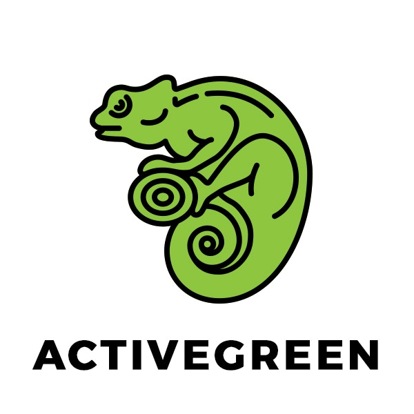 Our ActiveGreen chameleon, the one you'll find on your t-shirt rewards.