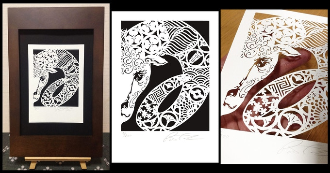 Year of the Ram limited edition Laser Cut Print - click to enlarge
