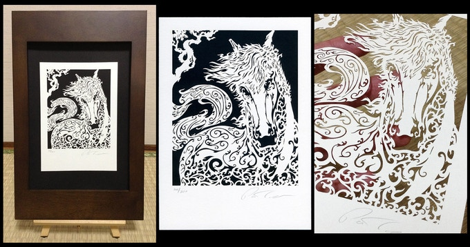 Year of the Horse limited edition Laser Cut Print - click to enlarge