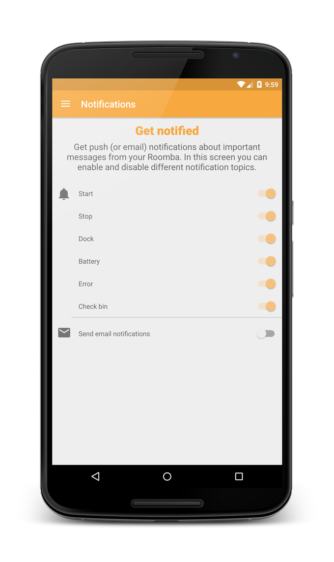 Notifications settings in Android