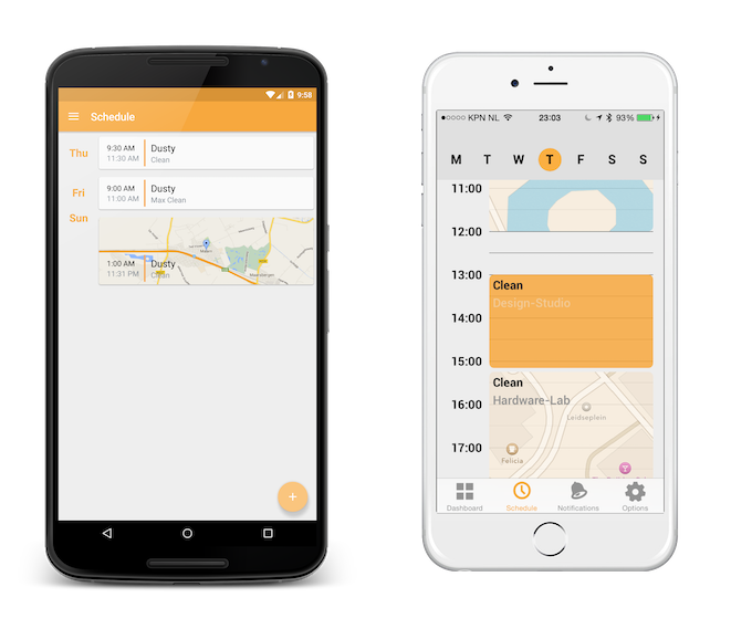 Schedule options with geofencing for Android and iOS.