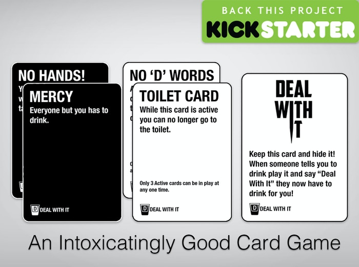 deal with it a game for every party by adam snook kickstarter