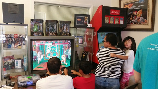 Visitors enjoying our games.