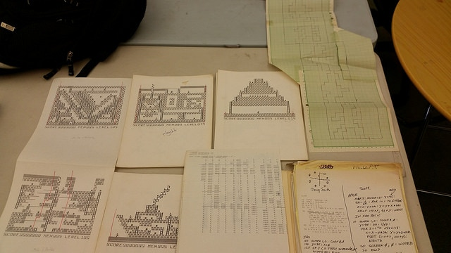 A typical donation. These are maps used by the developers to port Lode Runner to DOS.