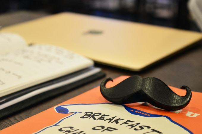 Close-up of the Book Mustache
