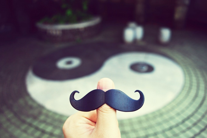 The unofficial mascot of the Book Mustache