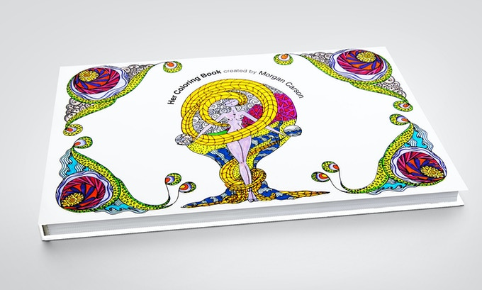 A mock-up of Her Coloring Book