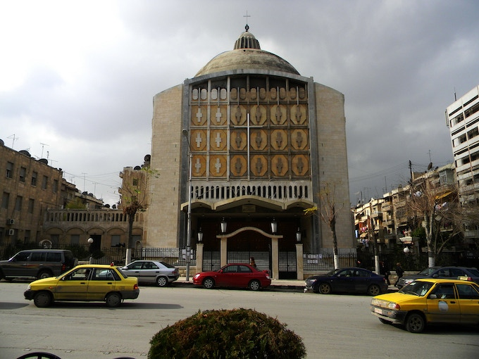 The Catholic Church I attended in Syria.