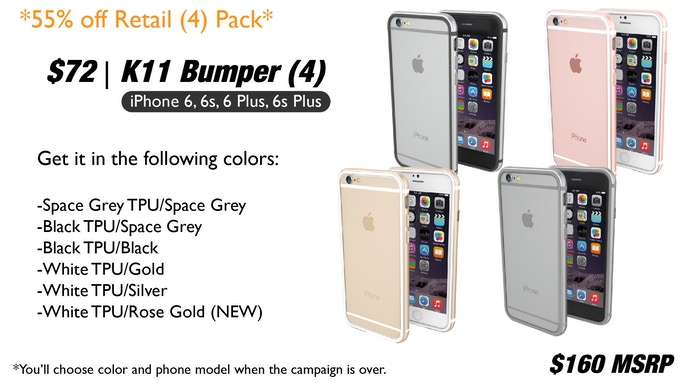 K11 Bumper | iPhone 6, 6s, 6 Plus and 6s Plus by ThanoTech Inc