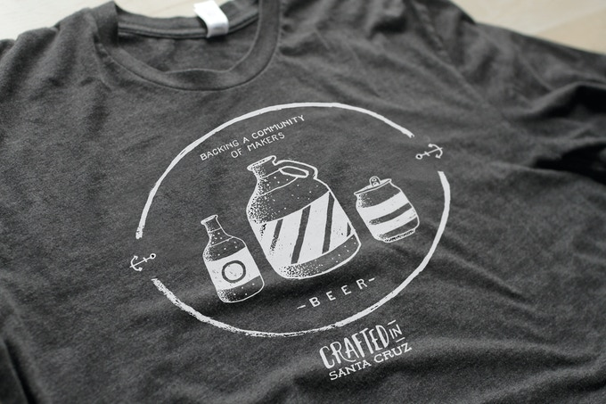 BEER - our bottle, growler, and can illustrated shirt