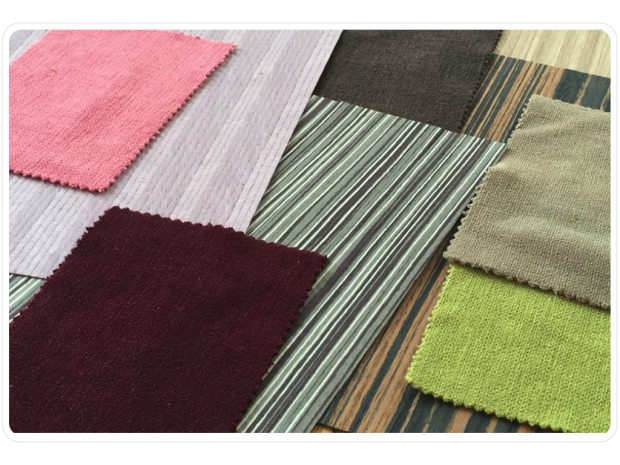 Fabrics and wood veneers