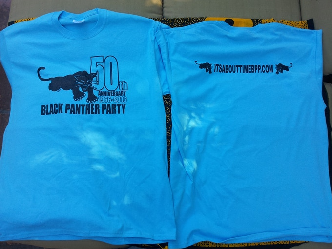 Black Panther Party 50th Anniversary Commemorative T-shirt.