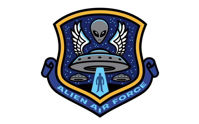 """Alien Air Force"" alternate patch design (Stretch Goal item)"