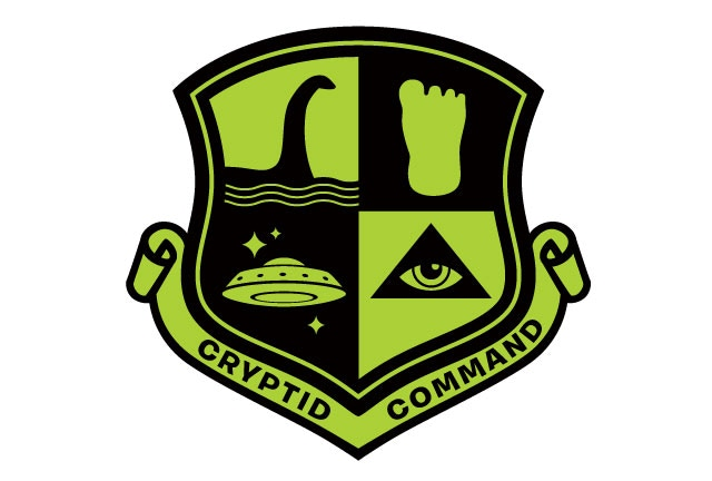 """Cryptid Command"" shield patch design (Stretch Goal item)"