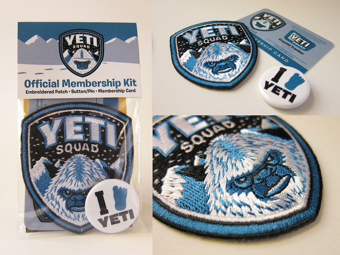"""Yeti Squad Membership Kit"" items"