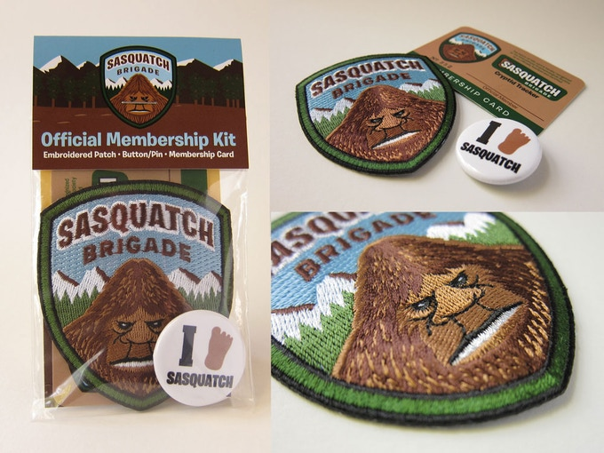 """Sasquatch Brigade Membership Kit"" items"