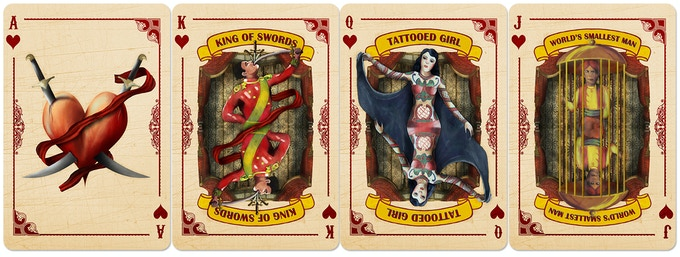 If you grabbed your heart in disbelief when you saw Spidora, feast your eyes on our very own World's Smallest Man, King of Swords and Tattooed Girl! She's a sultry vixen, covered head to toe in ink from around the world and 100% ALIVE!