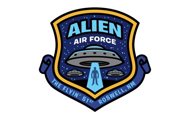 """Alien Air Force"" patch design"